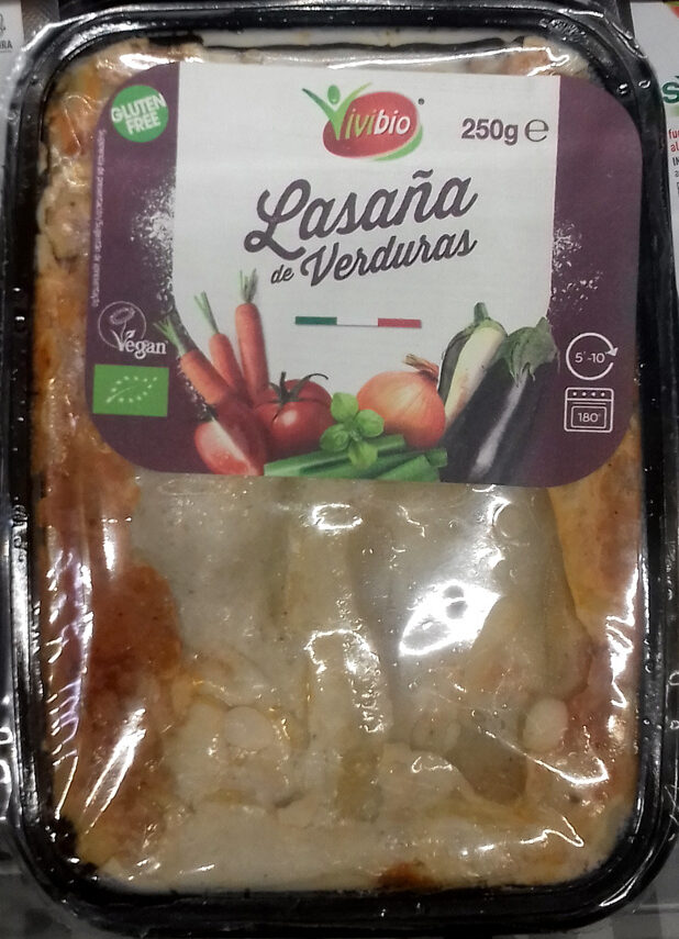 Lasaña de verduras ecológica y sin gluten - Producte