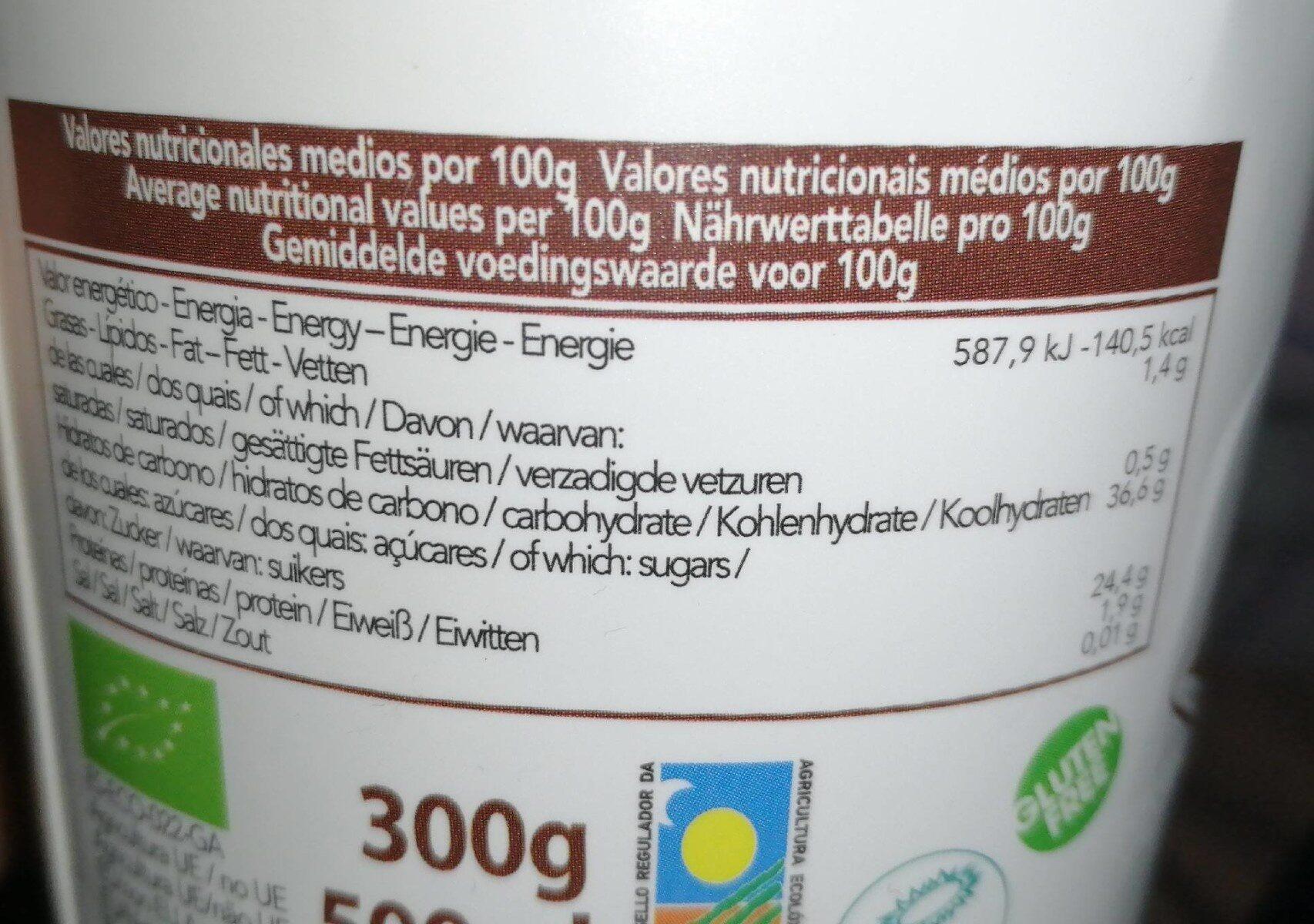 Cocoa ice cream - Nutrition facts - es