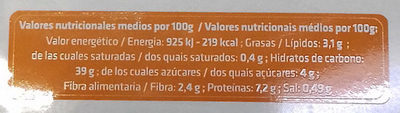 Pasta Rellena Calabaza - Informació nutricional