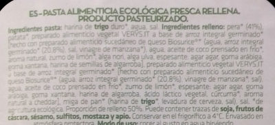 Vivibio - Ingredientes