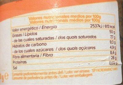 Crema de cacahuete crujiente - Nutrition facts
