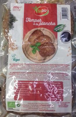 Tempeh a la plancha ecológico elaborado con soja fermentada - Producto