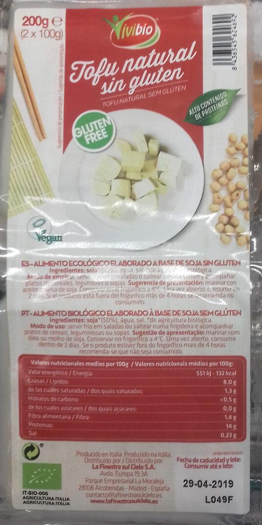 Tofu natural sin gluten - Producte - es