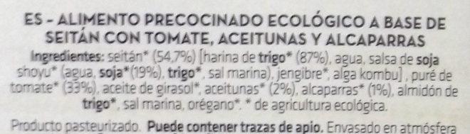 Seitán con tomate y aceitunas - Ingrédients - es