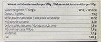 Seitán con tomate y aceitunas - Informations nutritionnelles - es