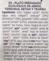 Vegan paella - Ingredients