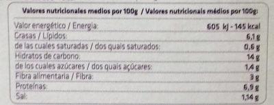 Vegan paella - Informació nutricional