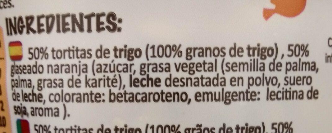 Tortitas saciantes naranja - Ingredientes - es