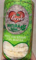 tortitas de arroz con sesamo y sal marina - Product