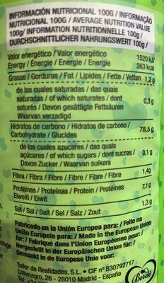 tortitas de arroz con sesamo y sal marina - Nutrition facts