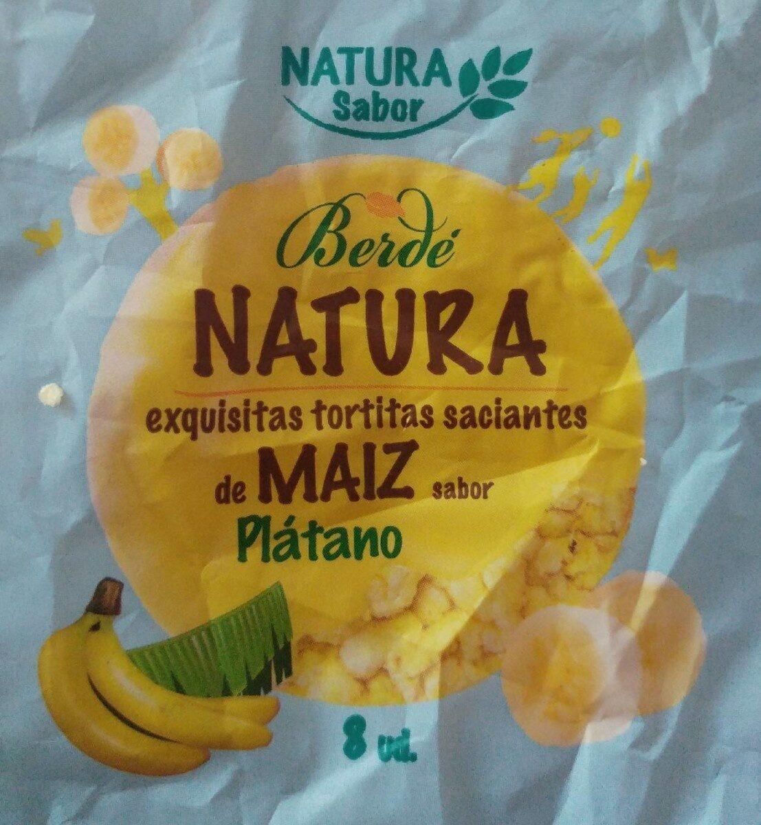 Tortitas saciantes de maiz sabor plátano - Producto - es