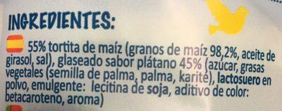 Tortitas saciantes de maiz sabor plátano - Ingredientes - es