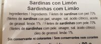 Sardinas con Limon - Ingrédients