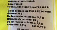 Gurma chips - Información nutricional