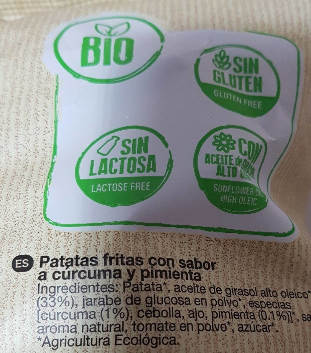 Papas Gurma con cúrcuma y pimienta - Nutrition facts