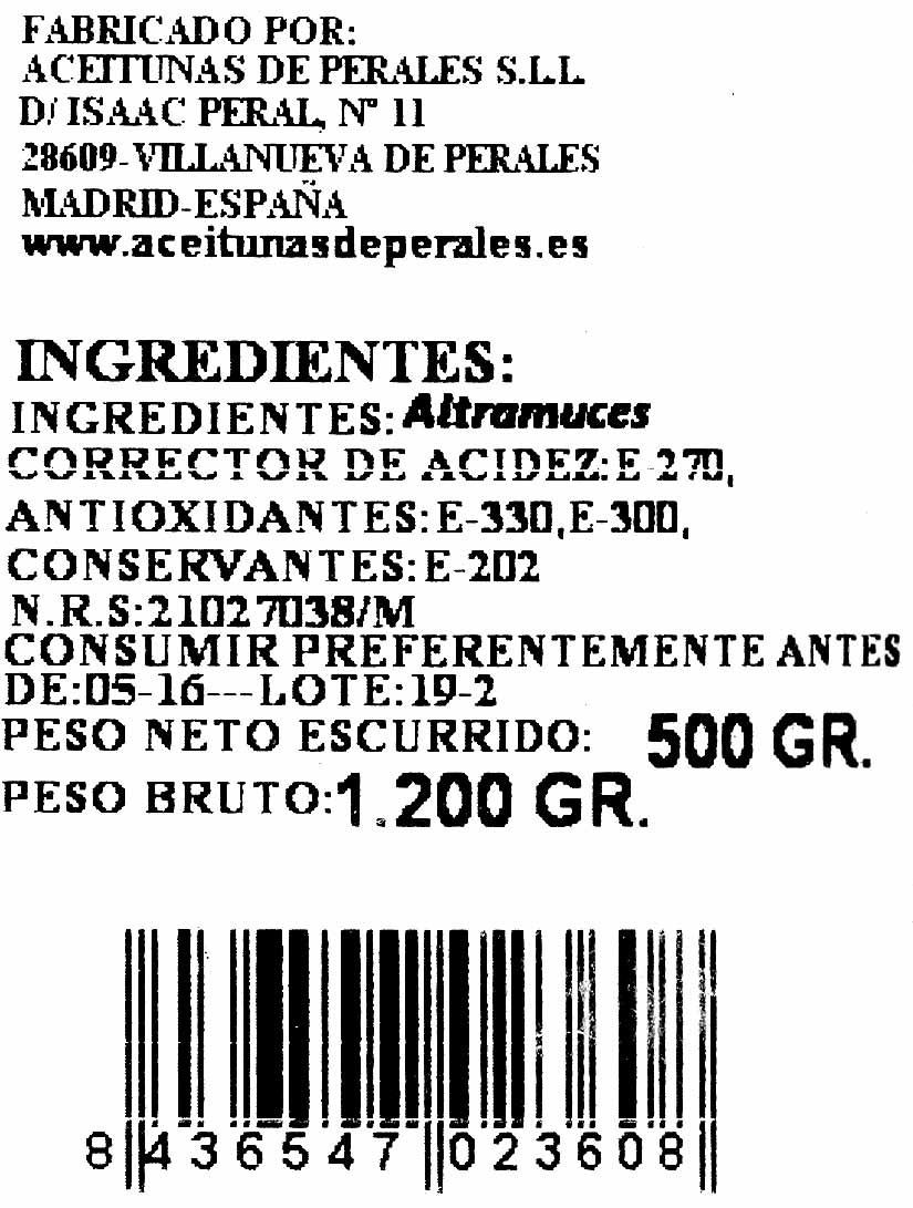 Altramuces encurtidos - Ingredientes - es