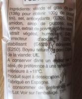 Fuet extra - Ingredienti - fr