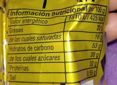 Pastelito de Chocolate - Nutrition facts