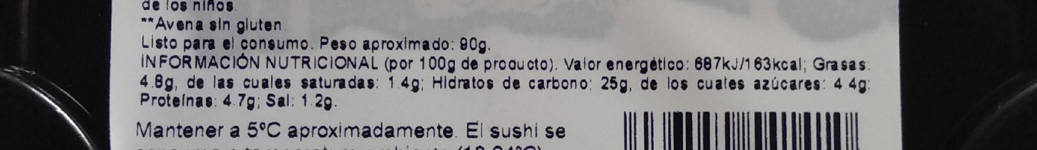 Sushi - Informations nutritionnelles - es