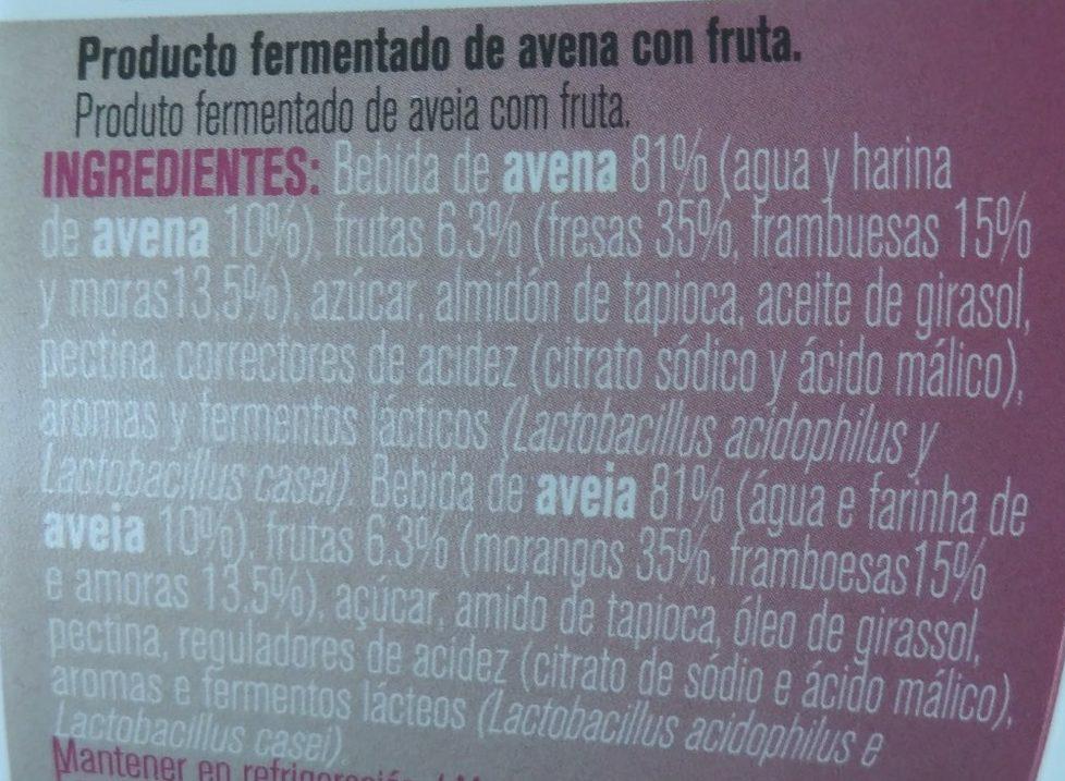 Es avena Frutos Rojos - Ingredientes - es