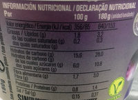 Avena higo - Información nutricional