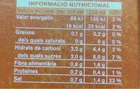 Suc de Tomàquet - Nutrition facts - es