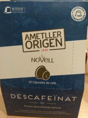 Café capsulas descafeinado Novell