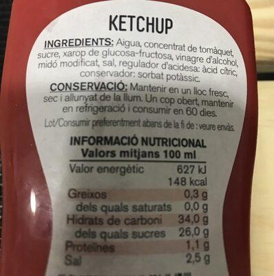 Ketchup - Ingrédients