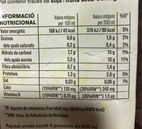 Beguda de Civada calci - Informació nutricional - ca