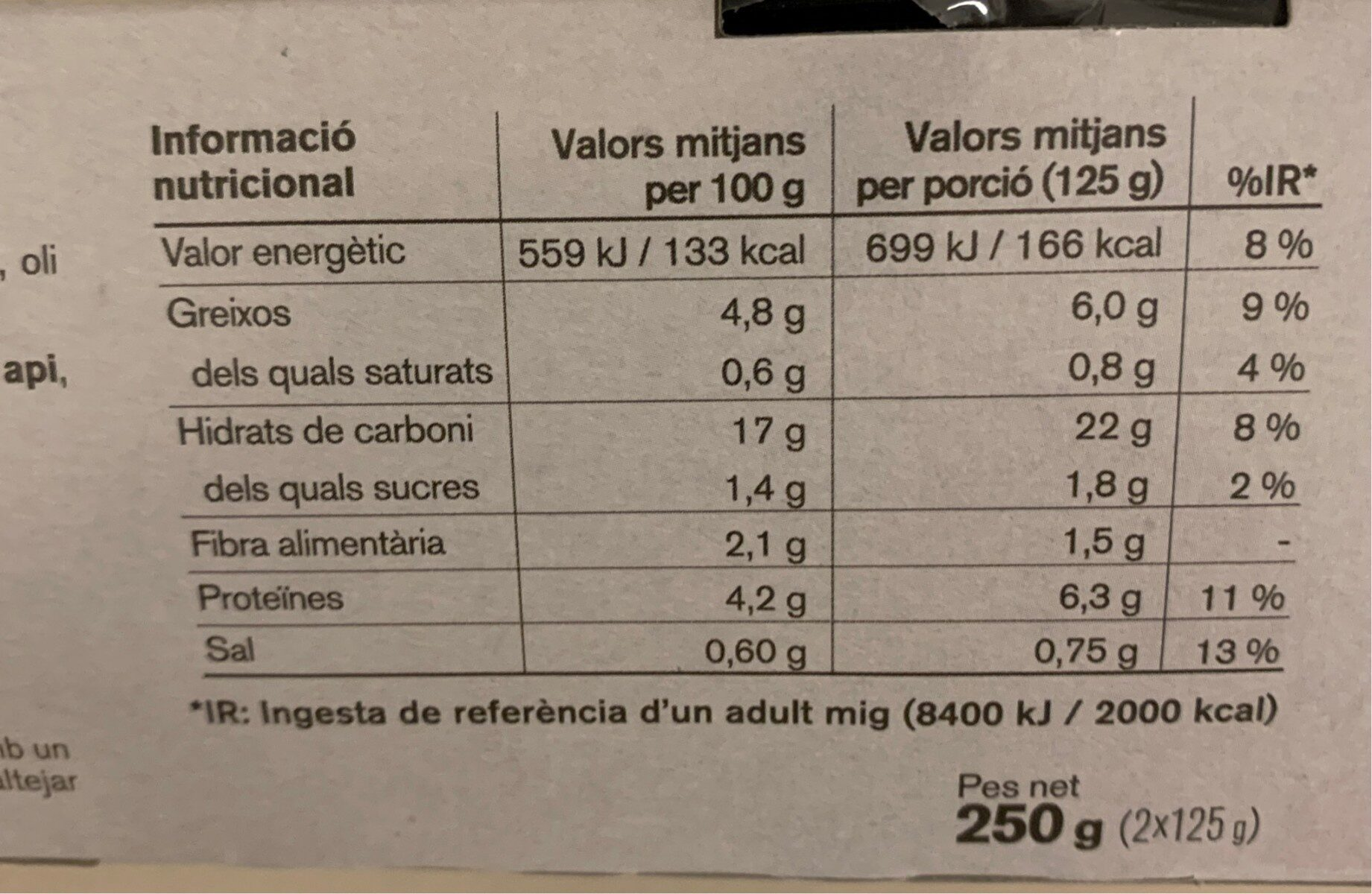 Quinoa blanca y vermella - Nutrition facts