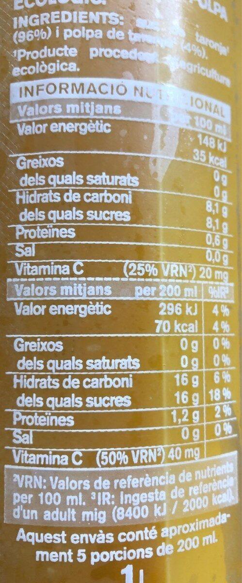 Suc de taronja eco - Nutrition facts