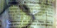 Cors carxofa - Ingredients