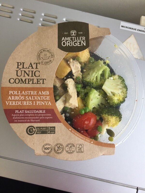 Pollastre amb arròs salvatge verdures i pinya - Product
