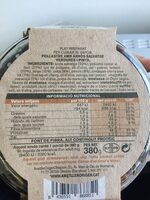 Pollastre amb arròs salvatge verdures i pinya - Informació nutricional - es