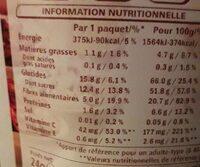 Fresa Crujiente 24GR. Vitasnacks - Informations nutritionnelles - fr
