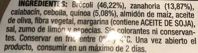 Burguesana quinoa y brocoli - Ingredients