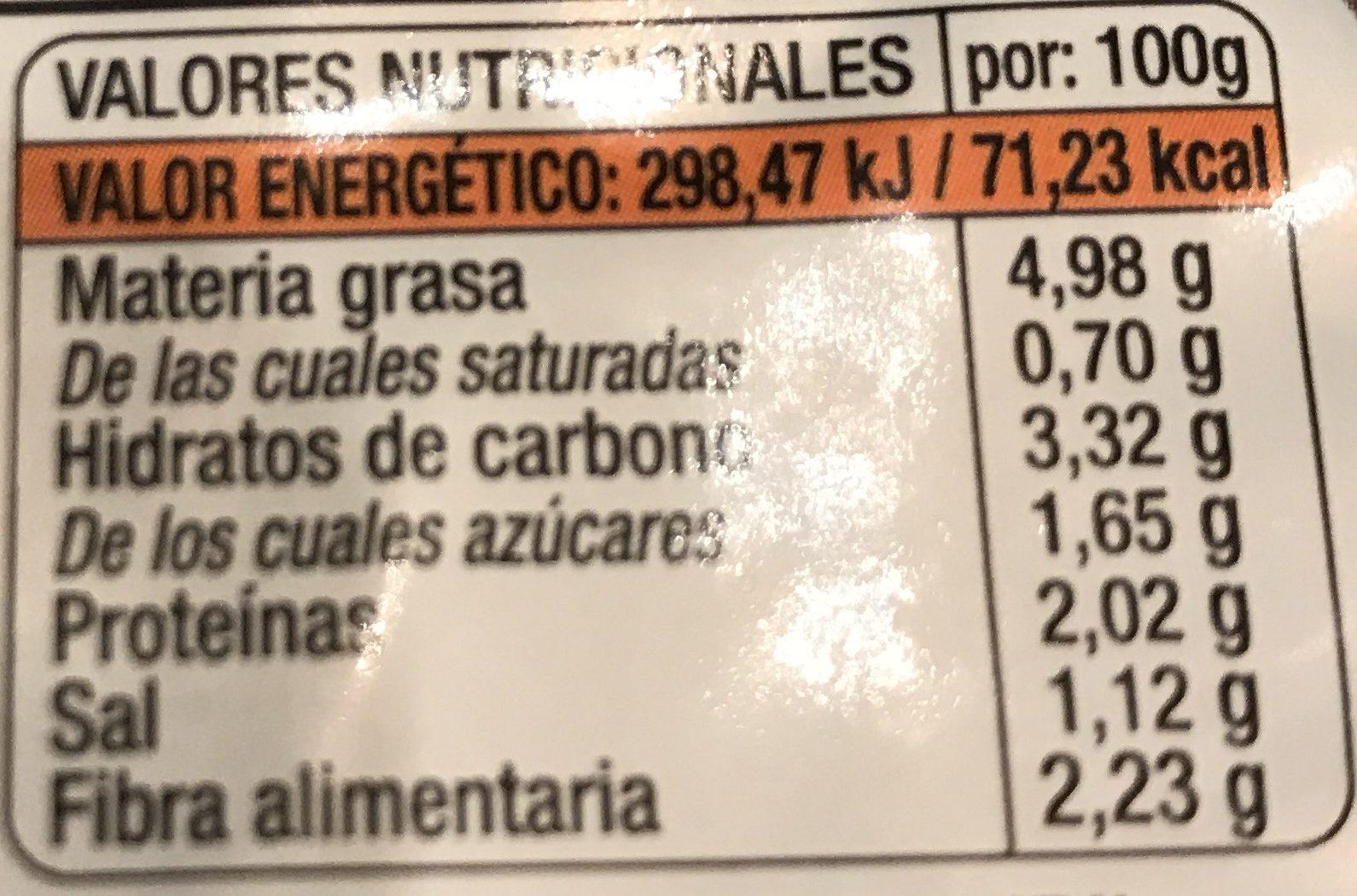 Burguesana quinoa y brocoli - Informació nutricional