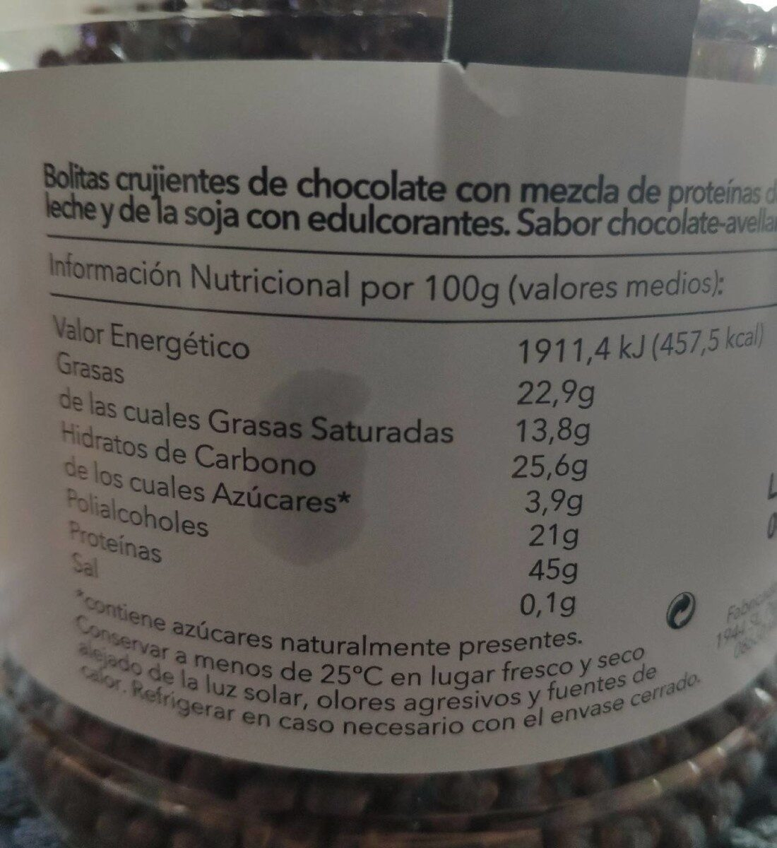 Protein crunch - Nutrition facts