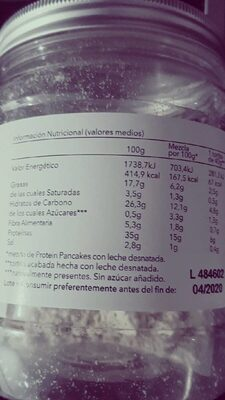 Protein pancakes - Nutrition facts