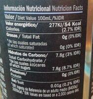 Sidra con mora - Informació nutricional - es