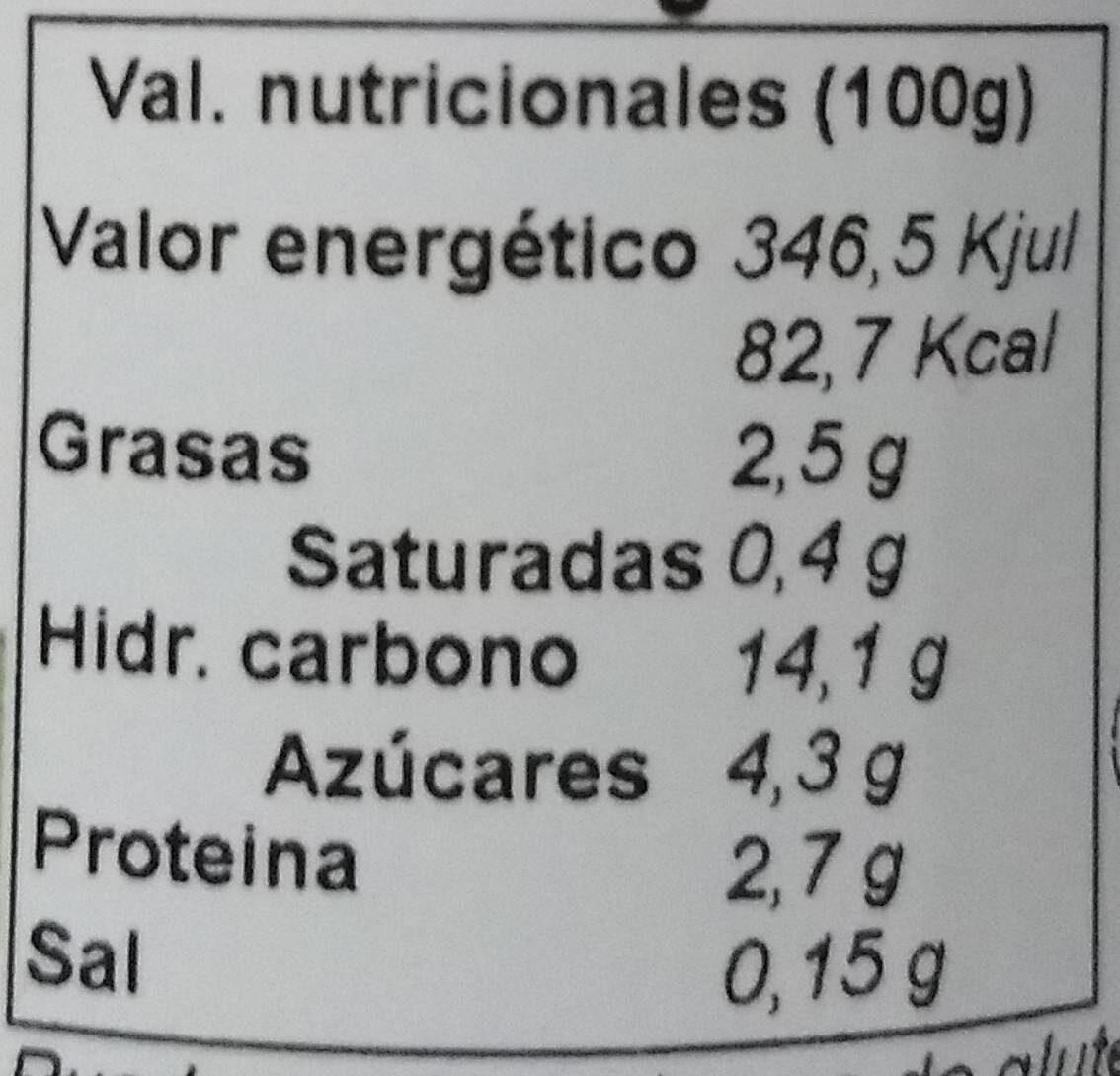 Paté de tomate - Nutrition facts - es