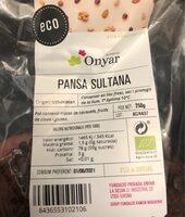 Pansa Sultana - Producto