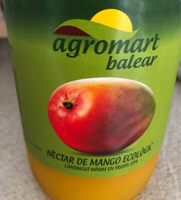 Néctar de mango ecológico