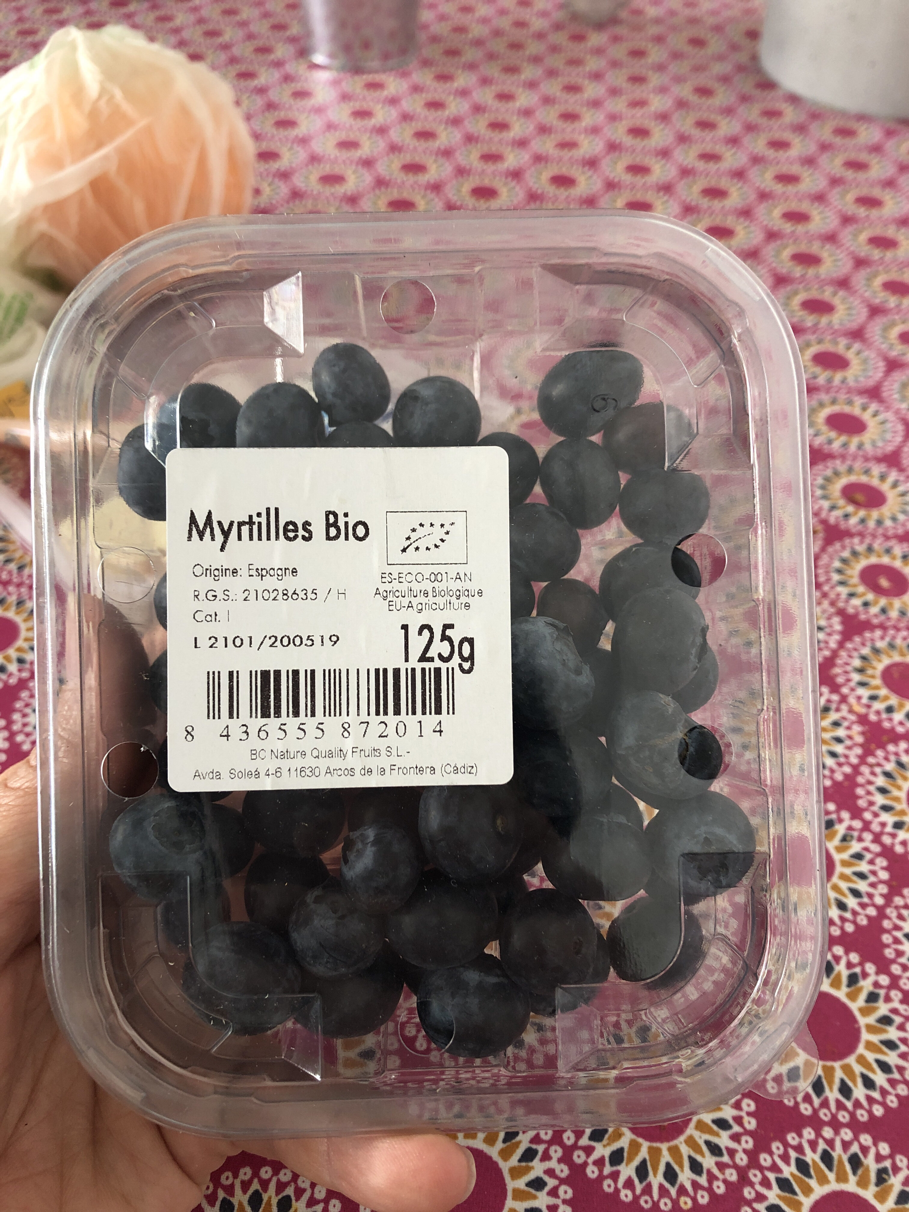 Myrtilles bio - Product - fr