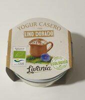 Yogur casero con lino dorado - Producto