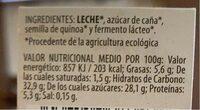 Yogur casero con quinoa - Información nutricional - es