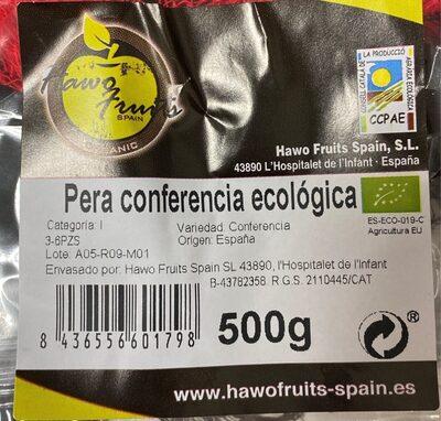 Pera conferencia ecologica - Nutrition facts - es