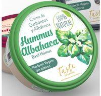 Hummus de albahaca 100% Natural Taste Shukran - Producto