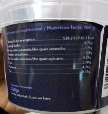 Mutabal - Nutrition facts - es