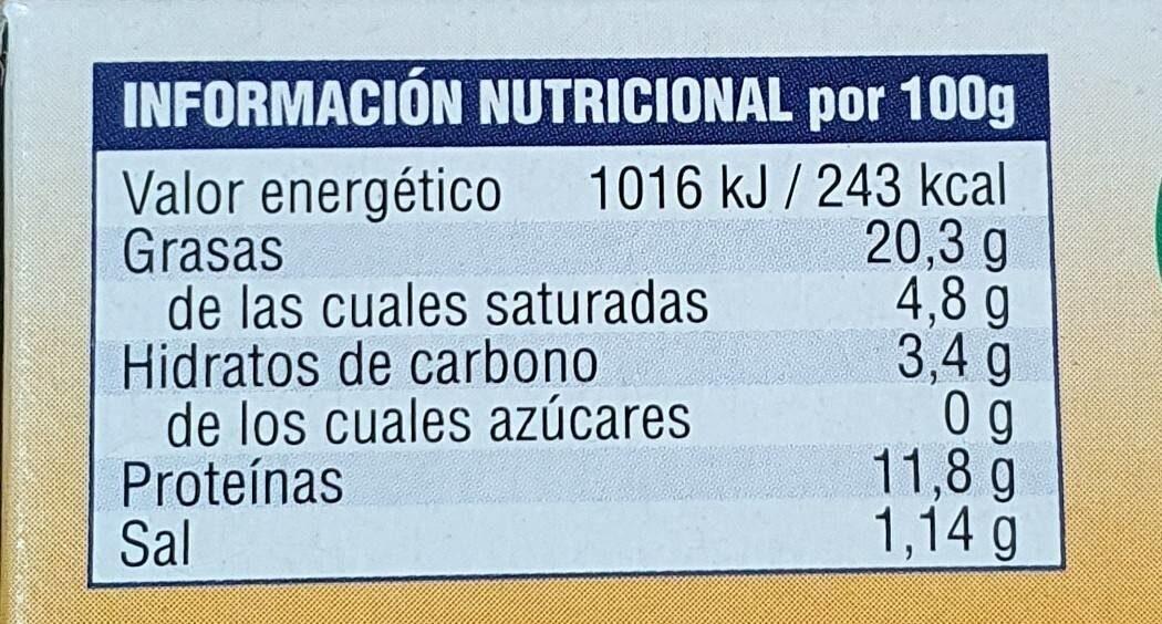 Mejillones de Galicia en escabeche - Nutrition facts - es